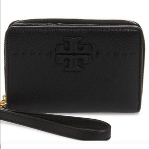 Tory Burch McGraw Black Bi-Fold Wallet